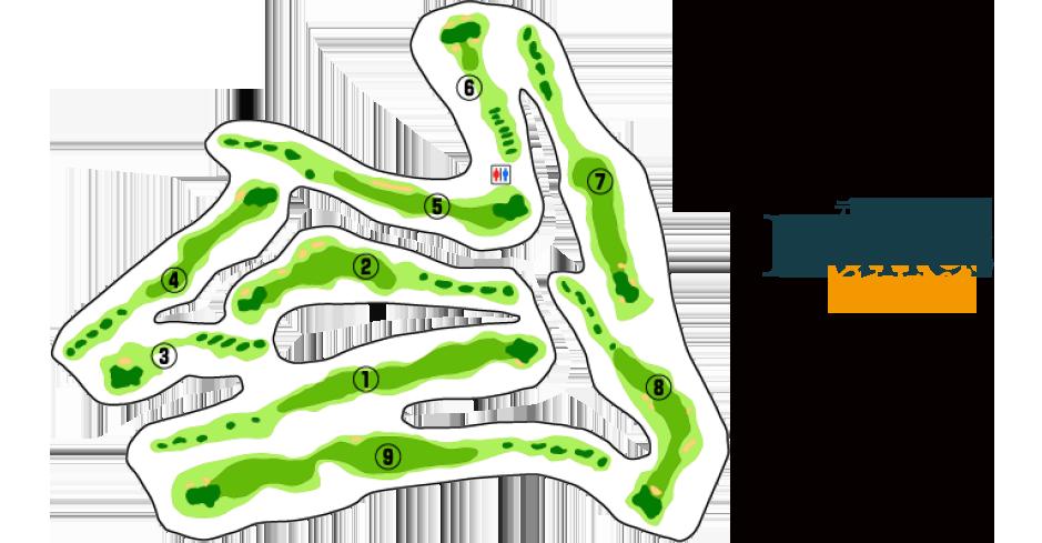 デューンズコース Woodland course